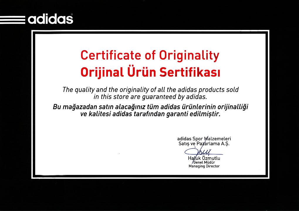 Adidas Orjinal Ürün Sertifikası